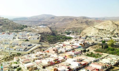 Zdjęcie HISZPANIA / Andaluzja / Almeria / La Alcazaba (3) widok na suchy krajobraz