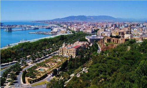 Zdjecie HISZPANIA / Andaluzja / Malaga / Malaga - panorama z drogi na Gibralfaro