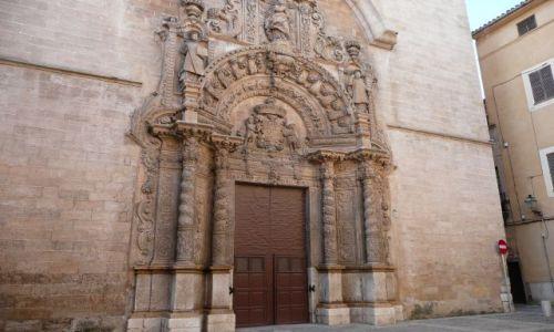 Zdjecie HISZPANIA / Majorka / Palma / Drzwi do katedry w Palmie