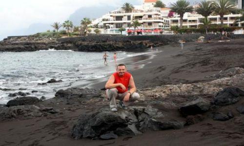 Zdjecie HISZPANIA / Wyspy KANARYJSKIE / TENERYFA / Playa de Las Arenas - najczarniejsza na wyspie