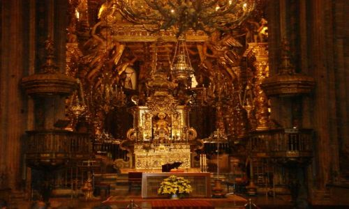 Zdjecie HISZPANIA / Galicja / droga do Santiago, katedra w Santiago de Compostela / camino de Santi