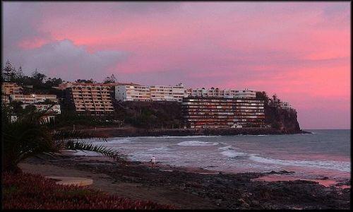 HISZPANIA / Wyspy Kanaryjskie / Gran Canaria / Wieczorem w San Augustin
