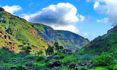 HISZPANIA / Gran Canaria / Barranco Guayadaque / Chmura nad Barranco Guayadaque