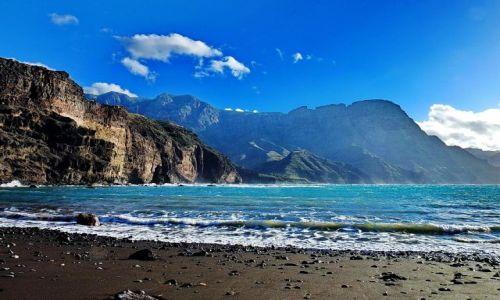 Zdjęcie HISZPANIA / Gran Canaria / Puerto de las Nieves / Plaża z widoczkiem w Puerto de las Nieves