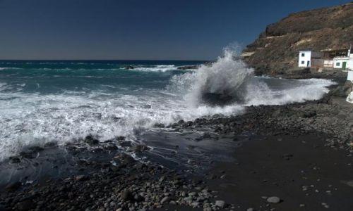 Zdjęcie HISZPANIA / Fuerteventura / Los Molinos / czarna plaża w Los Molinos
