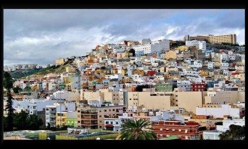 Zdjęcie HISZPANIA / Gran Canaria / Las Palmas / Domki jak pudełeczka