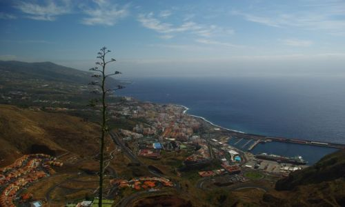 Zdjecie HISZPANIA / Wyspy Kanaryjskie, La Palma / Santa Cruz de La Palma / Widok z góry
