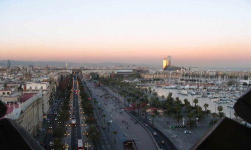 Zdjęcie HISZPANIA / Katalonia / Barcelona / Barcelona - widok z pomnika Kolumba