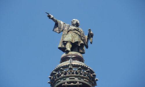 Zdjecie HISZPANIA / - / Barcelona / Pomnik Kolumba, który wskazuje palcem na Ameryke.