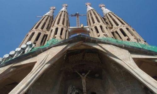 Zdjecie HISZPANIA / - / Barcelona / Sagrada Familia w trakcie budowy...