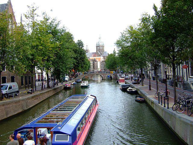 Zdjęcia: Amsterdam, Holandia, nad kanałem, HOLANDIA