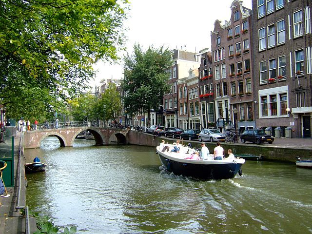 Zdjęcia: Amsterdam, Holandia, nad kanalem 2, HOLANDIA