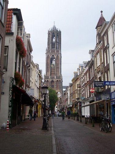 Zdjęcia: Utrecht, Dom Toren, wieża katedry w Utrechcie, HOLANDIA