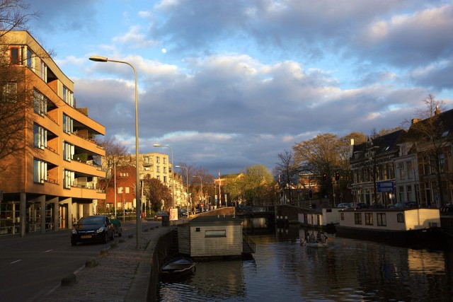 Zdjęcia: Wzdłuż kanałów, Groningen, O zachodzie słońca, HOLANDIA