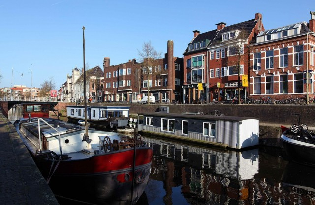 Zdjęcia: Kanał, Groningen, Domy i domki, HOLANDIA