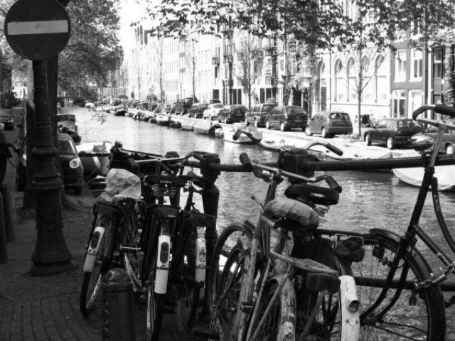 Zdj�cia: Amsterdam, bikes, HOLANDIA
