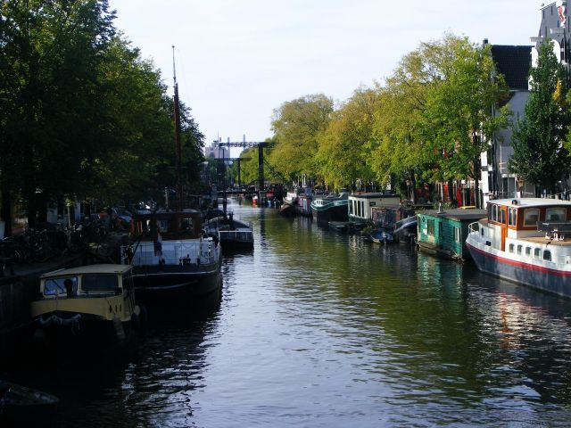 Zdjęcia: Amsterdam, Amsterdam, barki, HOLANDIA