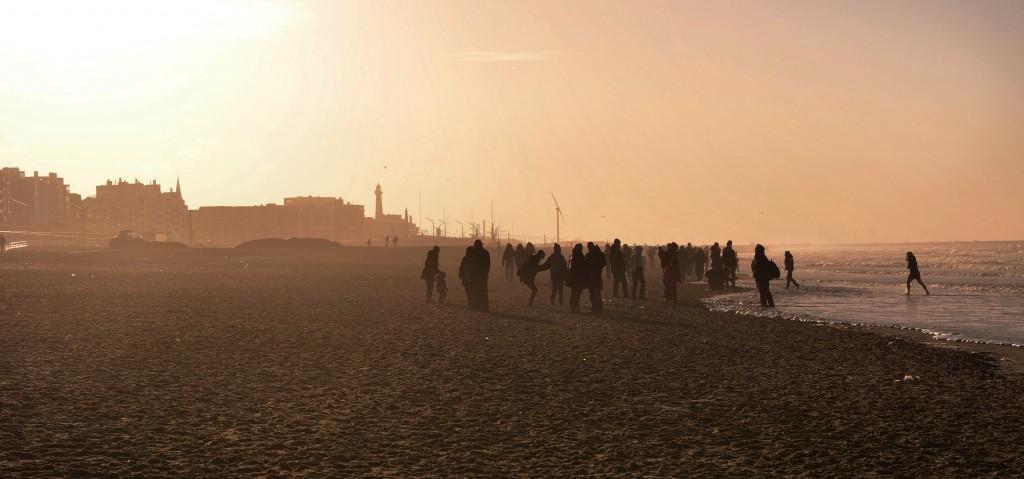 Zdjęcia: Haga, Holandia Południowa, Grudniowa plaża, HOLANDIA