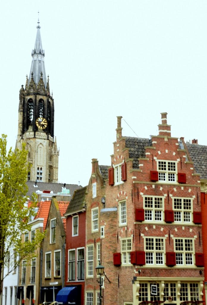 Zdjęcia: Delft, Holandia południowa, Kamienice w Delft, HOLANDIA