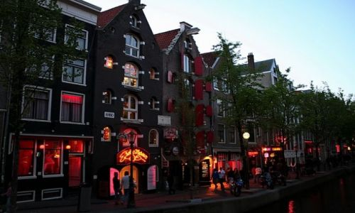 HOLANDIA / Amsterdam / Dam / Dzielnica Czerwonych Latarni