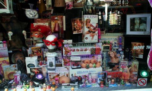 HOLANDIA / Amsterdam / Dam / Sex shop
