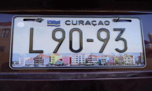 Zdjecie HOLANDIA / Antyle Holenderskie / Curacao / Willemstad / Tablica rejestracyjna