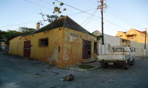 HOLANDIA / Antyle Holenderskie / Curacao / Willemstad / Domki, trochę gorzej zachowane