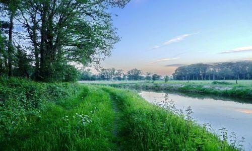 Zdjęcie HOLANDIA / Overijssel / Zenderen / Idąc wzdłuż kanału