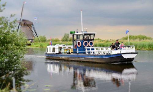 HOLANDIA / zuid holland / Kinderdijk / Rejs między wiatrakami