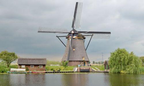 HOLANDIA / zuid holland / Kinderdijk / Mieszkanie w wiatraku
