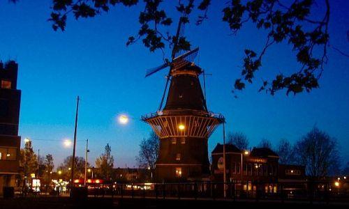 HOLANDIA / Amsterdam / Amsterdam / wiatrak w Amsterdamie