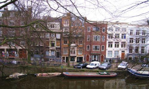 Zdjecie HOLANDIA / Holandia północna / Amsterdam -Prinsengracht / widok z hotelowego okna