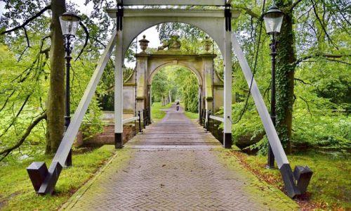 Zdjęcie HOLANDIA / Drenthe / Nienoord / Zielony portal