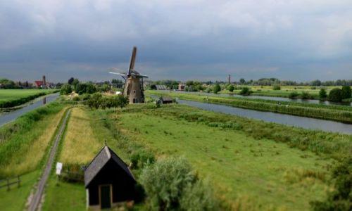 HOLANDIA / zuid holland / Rotterdam / Kinderdijk - ujęcie z wiatraka