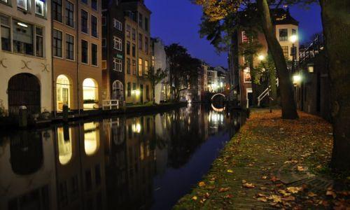Zdjęcie HOLANDIA / Utrecht / Utrecht / Utrecht wieczorową porą