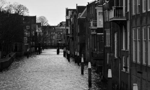 Zdjecie HOLANDIA / Zuid-Holland / Dordrecht / Kanal w Dordrechcie