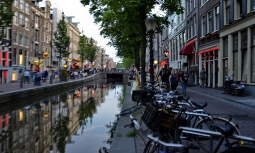 Zdjęcie HOLANDIA / Noord Holland / Amsterdam / Amsterdam wieczorem