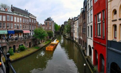 Zdjęcie HOLANDIA / Holandia Północna / Amsterdam / Jeden z malowniczych kanałów w stolicy Holandii