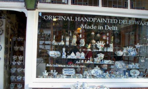 HOLANDIA / - / Delfty / Sklep z porcelaną