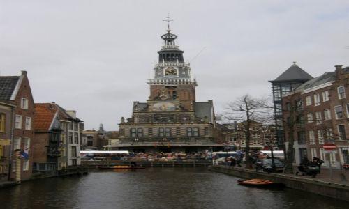 Zdjęcie HOLANDIA / - / Alkmaar / Ratusz miejski w dniu targów serowych.