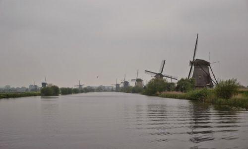 HOLANDIA / Holandia Południowa / Kinderdijk / Wiatraki w Kinderdijk