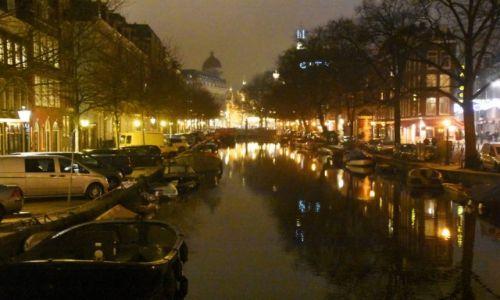 Zdjęcie HOLANDIA / Amsterdam / centrum / Wśród świateł