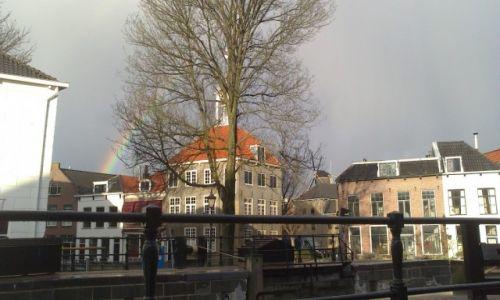 Zdjecie HOLANDIA / Zuid Holland / Schiedam / dzień styczniowy nad Schie