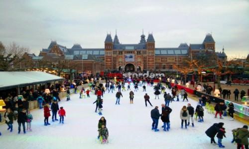 Zdjęcie HOLANDIA / Amsterdam / Amsterdam / Lodowisko