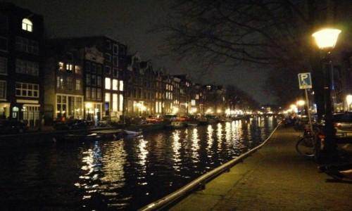 Zdjęcie HOLANDIA / Amsterdam / Amsterdam / Noc w Amsterdamie