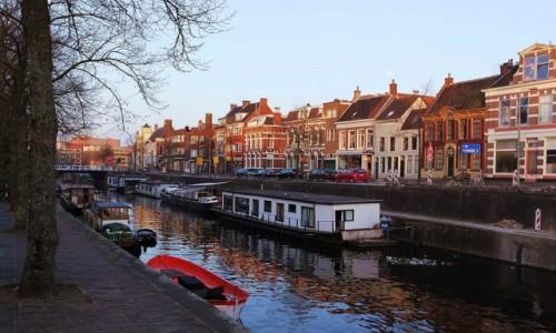 Zdjecie HOLANDIA / Groningen / Kanał / Malowane słońcem