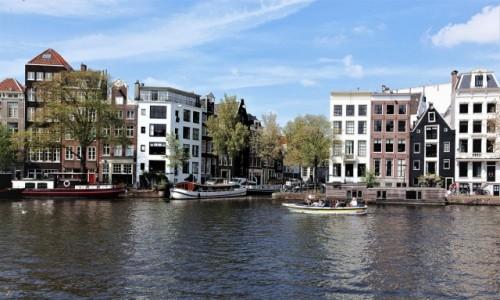 Zdjecie HOLANDIA / Amsterdam / Rzeka Amstel  / Nad wodą