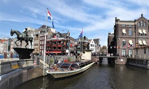 Zdjęcie HOLANDIA / Amsterdam / Rzeka Amstel  / Przystań
