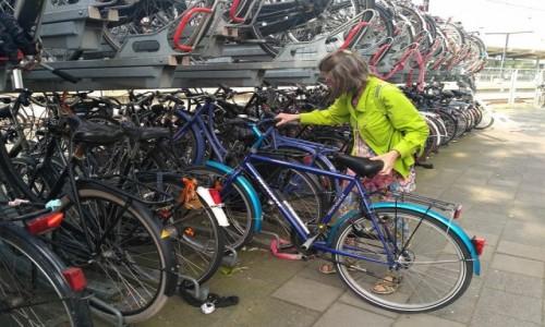 Zdjecie HOLANDIA / Zwolle / Dworzec kolejowy / Parking rowerowy