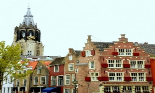 Zdjecie HOLANDIA / Holandia południowa / Delft / Kamienice w Delft